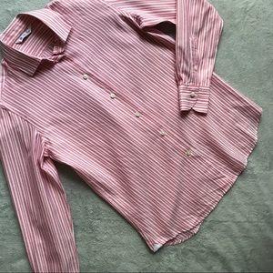 Loro Piana Cotton Long-Sleeve Stripe Button Shirt